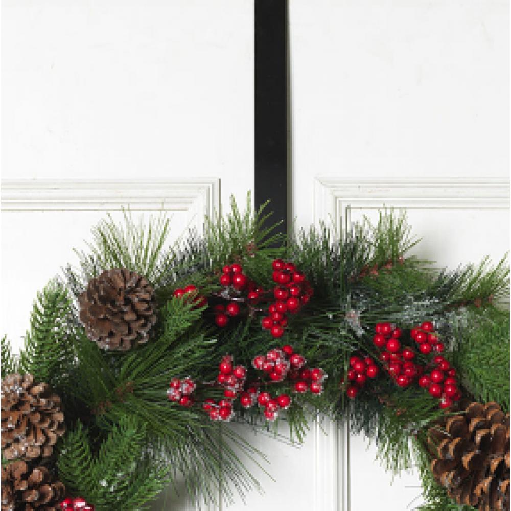 Wreath Hanger - Black 12in
