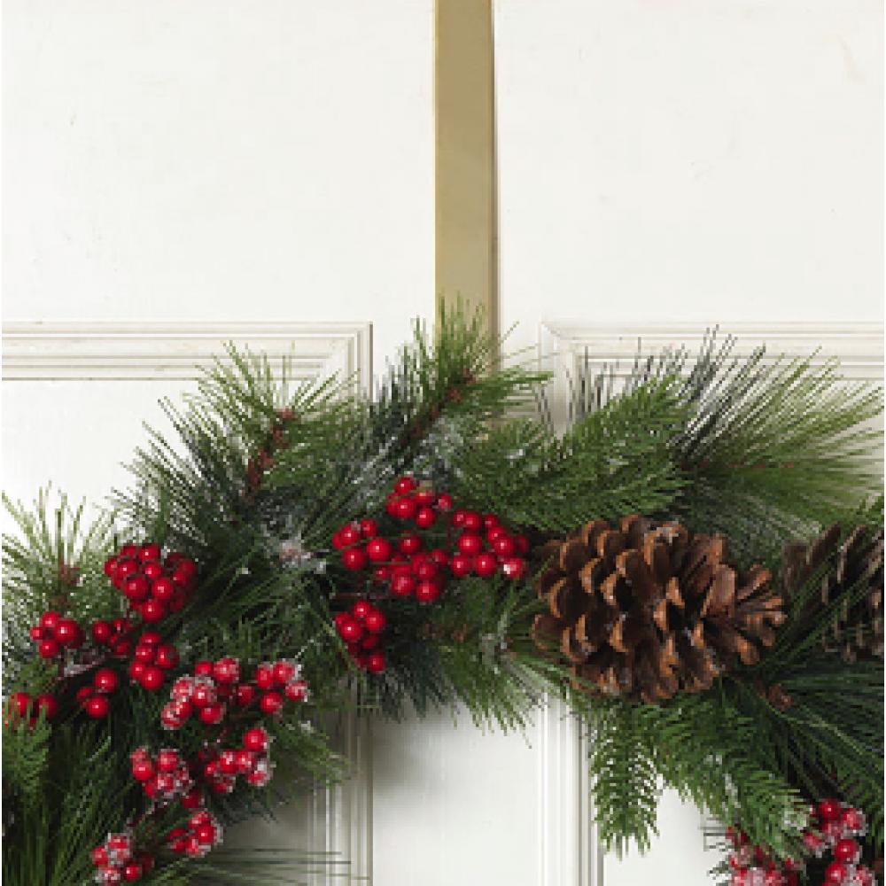 Wreath Hanger - Gold 14in