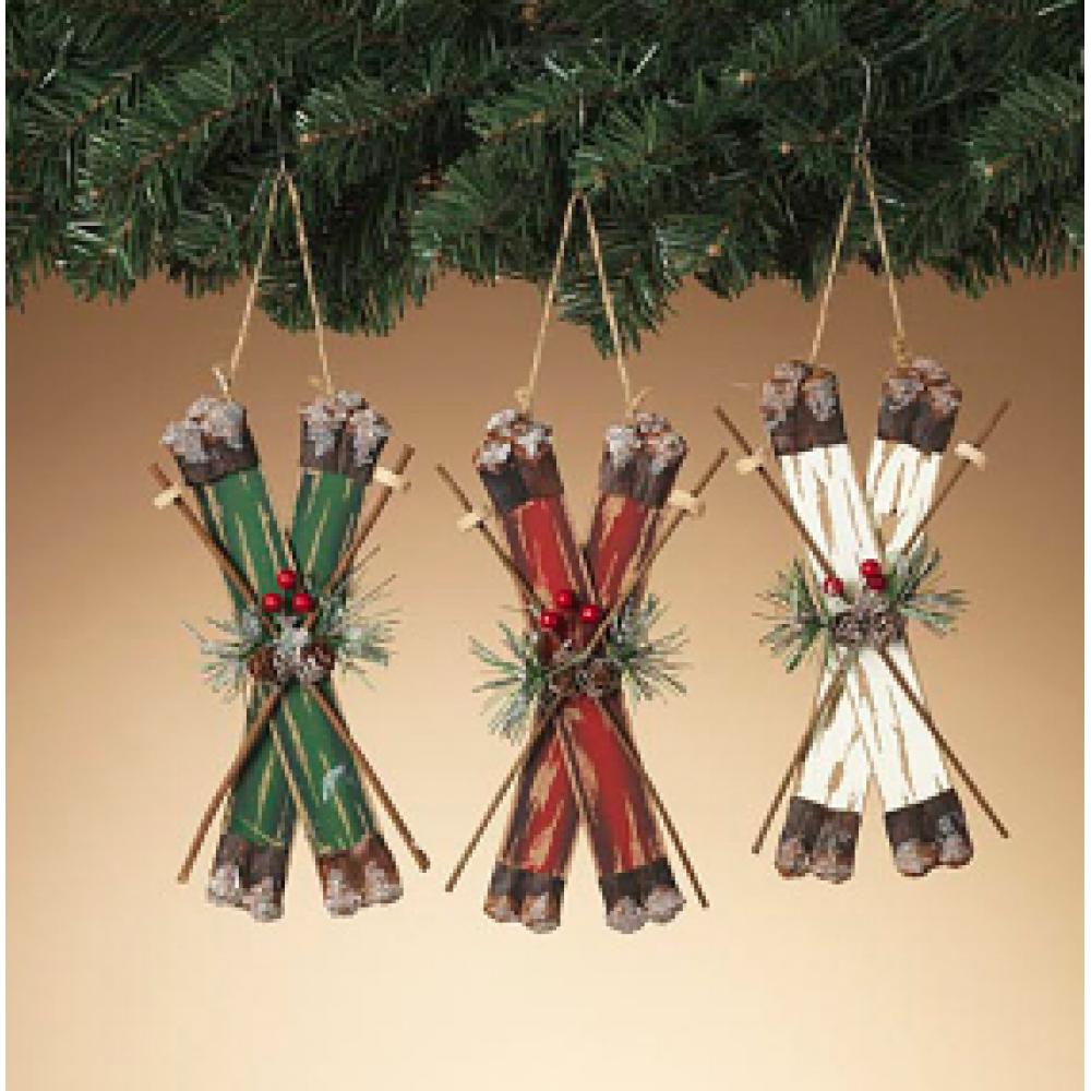 Ornament - Wooden Ski