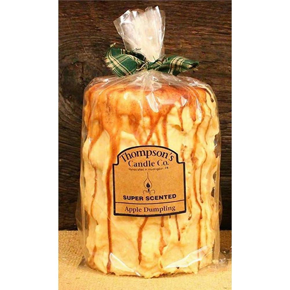 Large Pillar Candle 44 Oz - Apple Dumpling