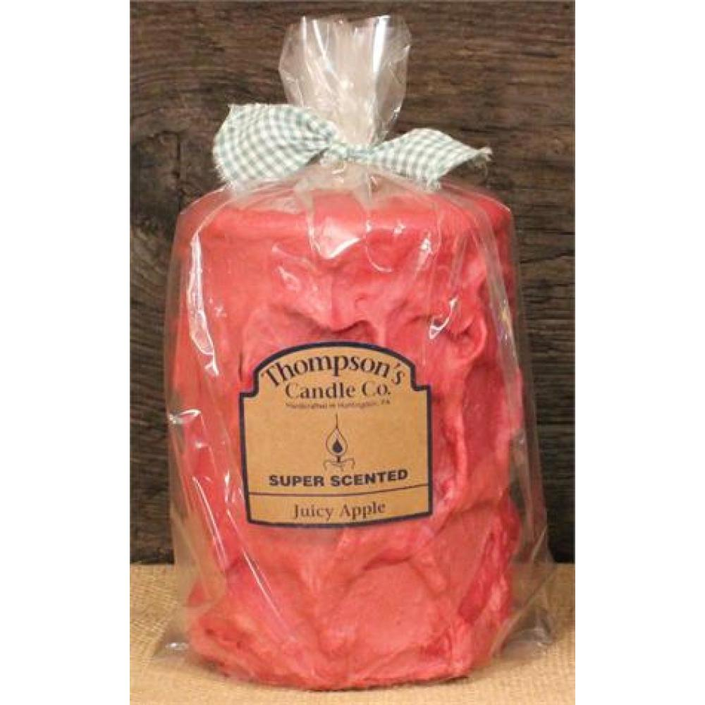 Large Pillar Candle 44 Oz - Juicy Apple