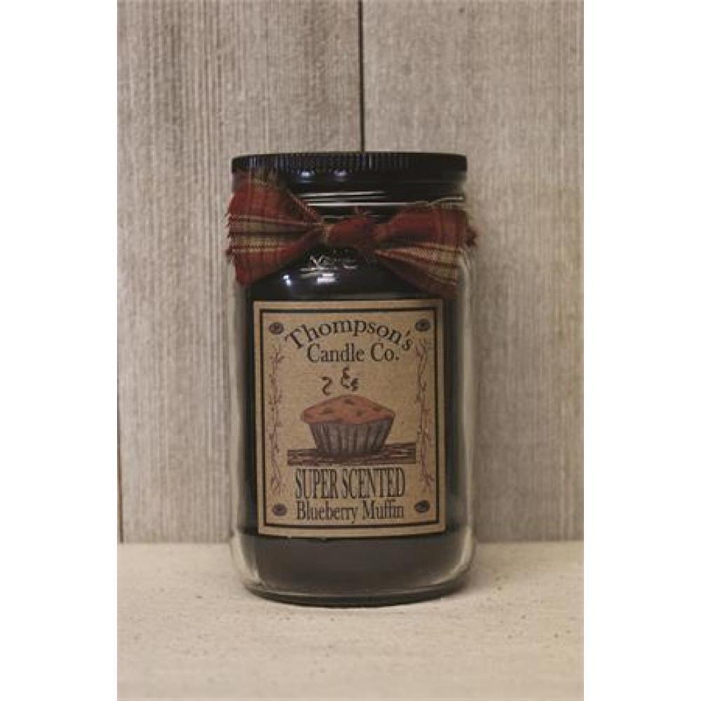 Small Mason Jar Candle 12 Oz - Blueberry Muffin