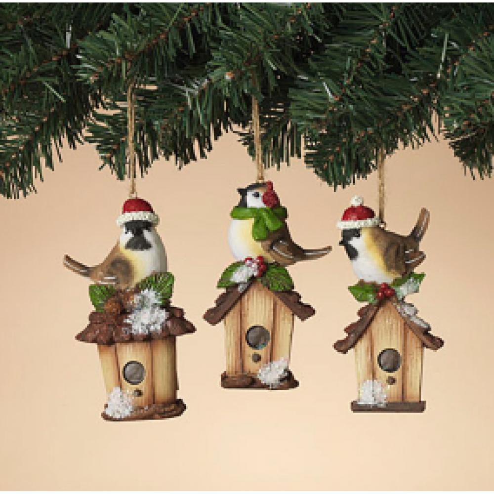 Ornament - Winter Bird With Bird House