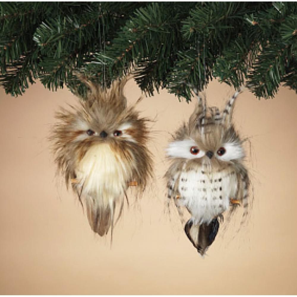 Ornament - Faux Fur Owl