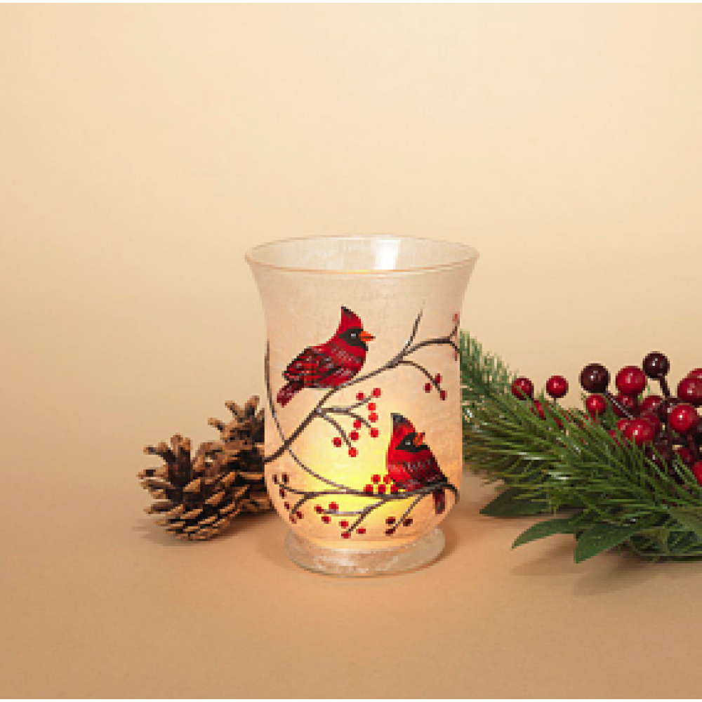 Candle Holder - Cardinal 6in