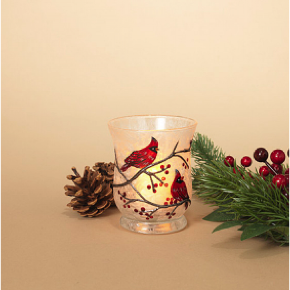 Candle Holder - Cardinal 4.3in