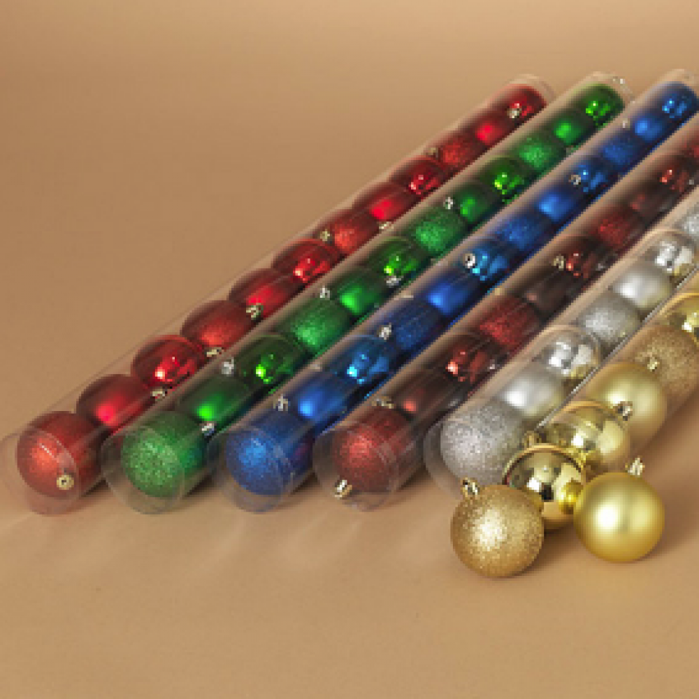 Ornament - 60mm 12 Piece Shatterproof Ball Ornaments 6 Asst