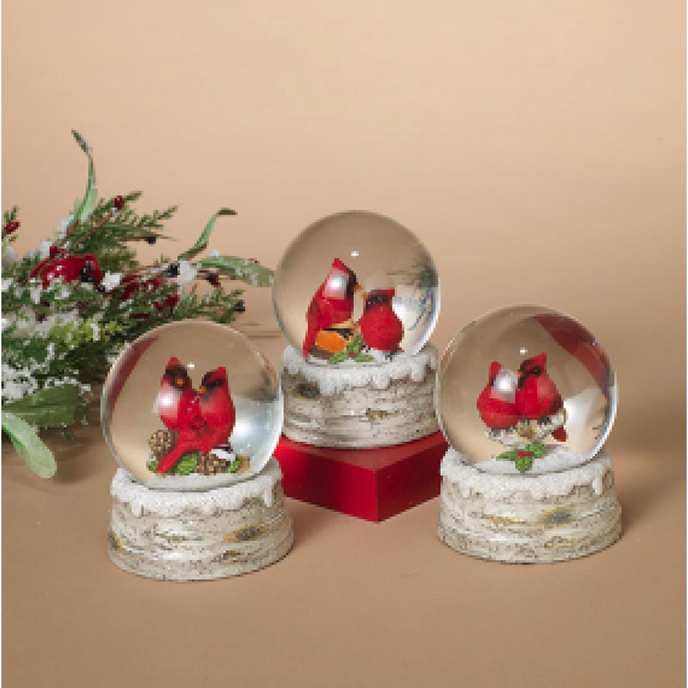 Holiday Cardinal Water Globe