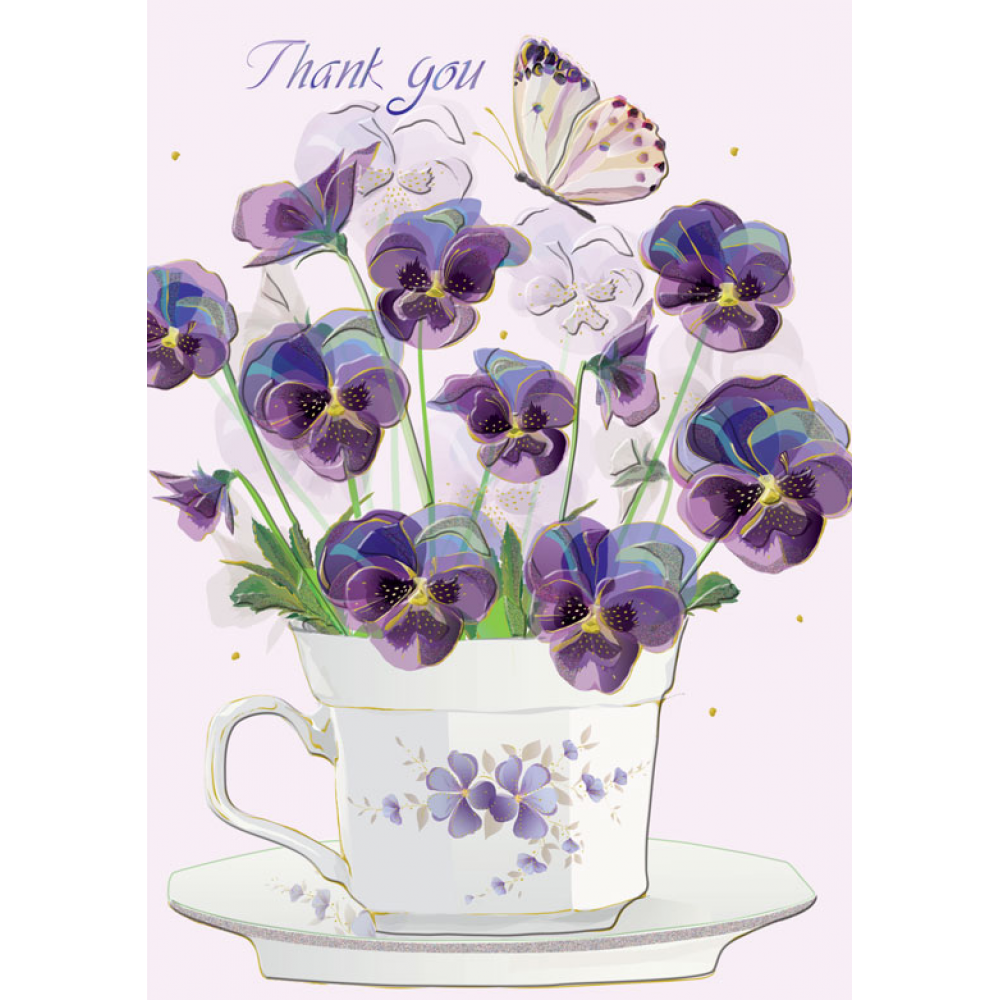Thank You - Cup Flowers