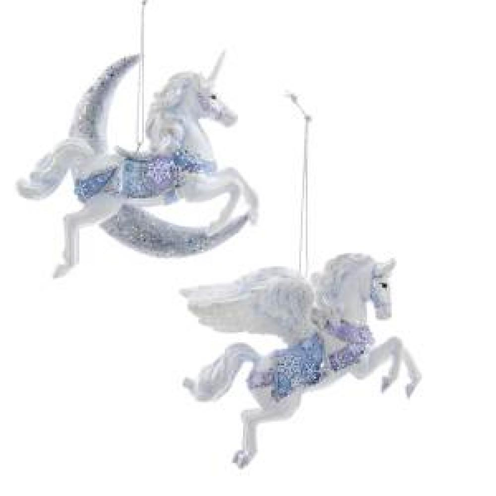 Ornament - Unicorn And Pegasus Frosted Kingdom