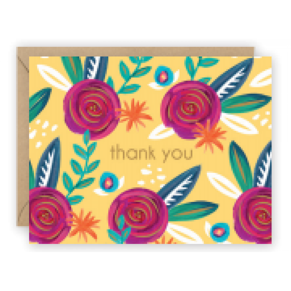 Thank You - Folk Floral