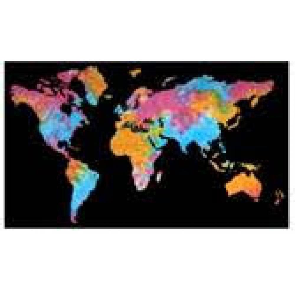 Tapestry Single Size World Map