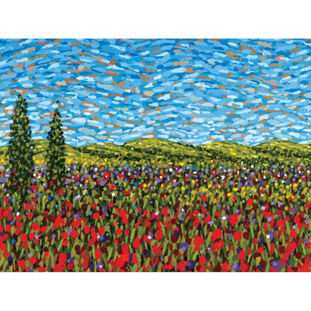 Boxed Card - Red Poppy Field