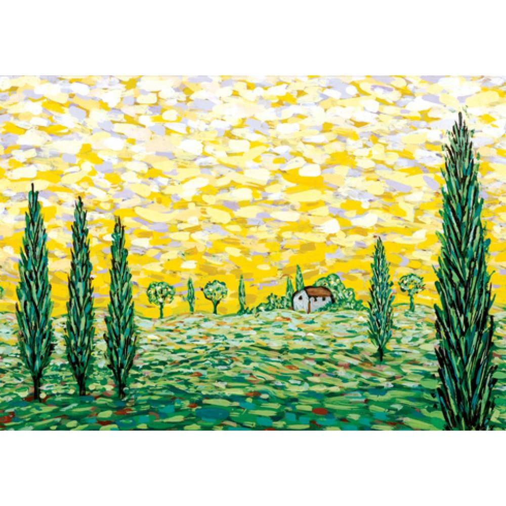 Boxed Card Green Fields