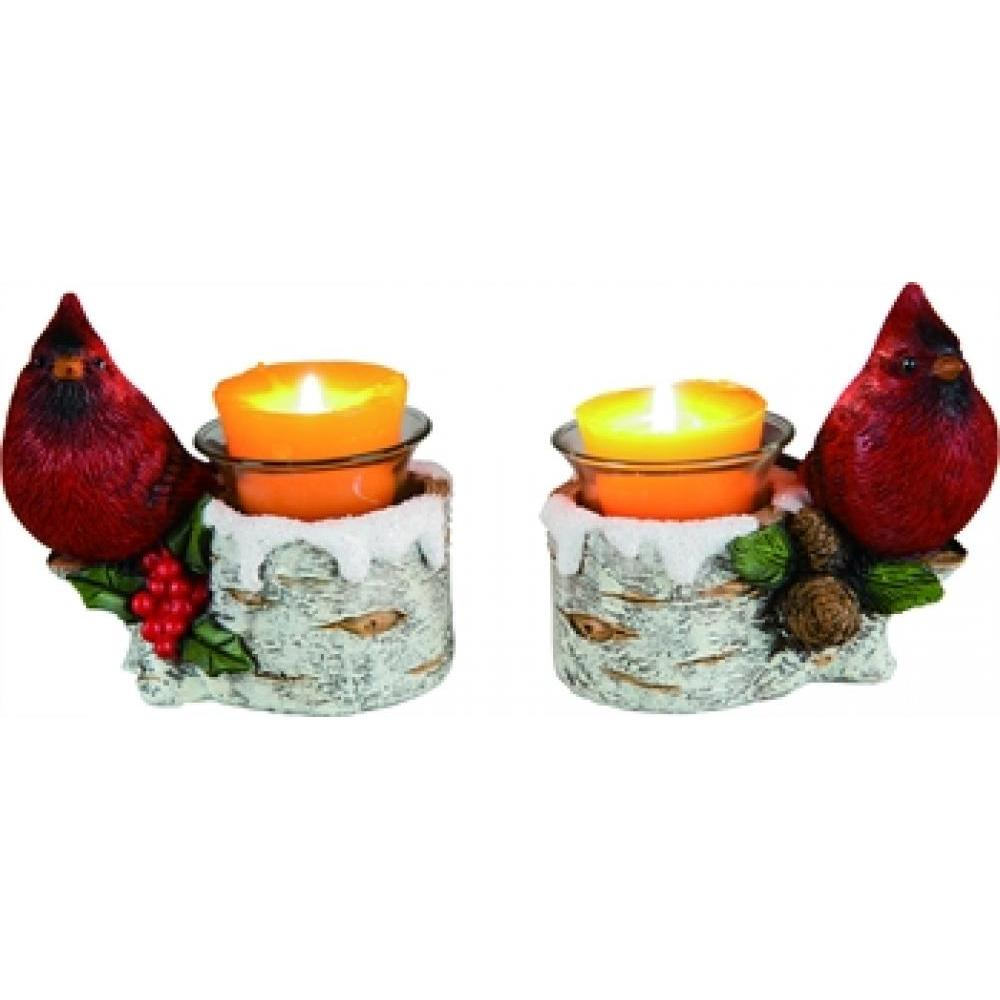 Christmas Candle Holder - Cardinal