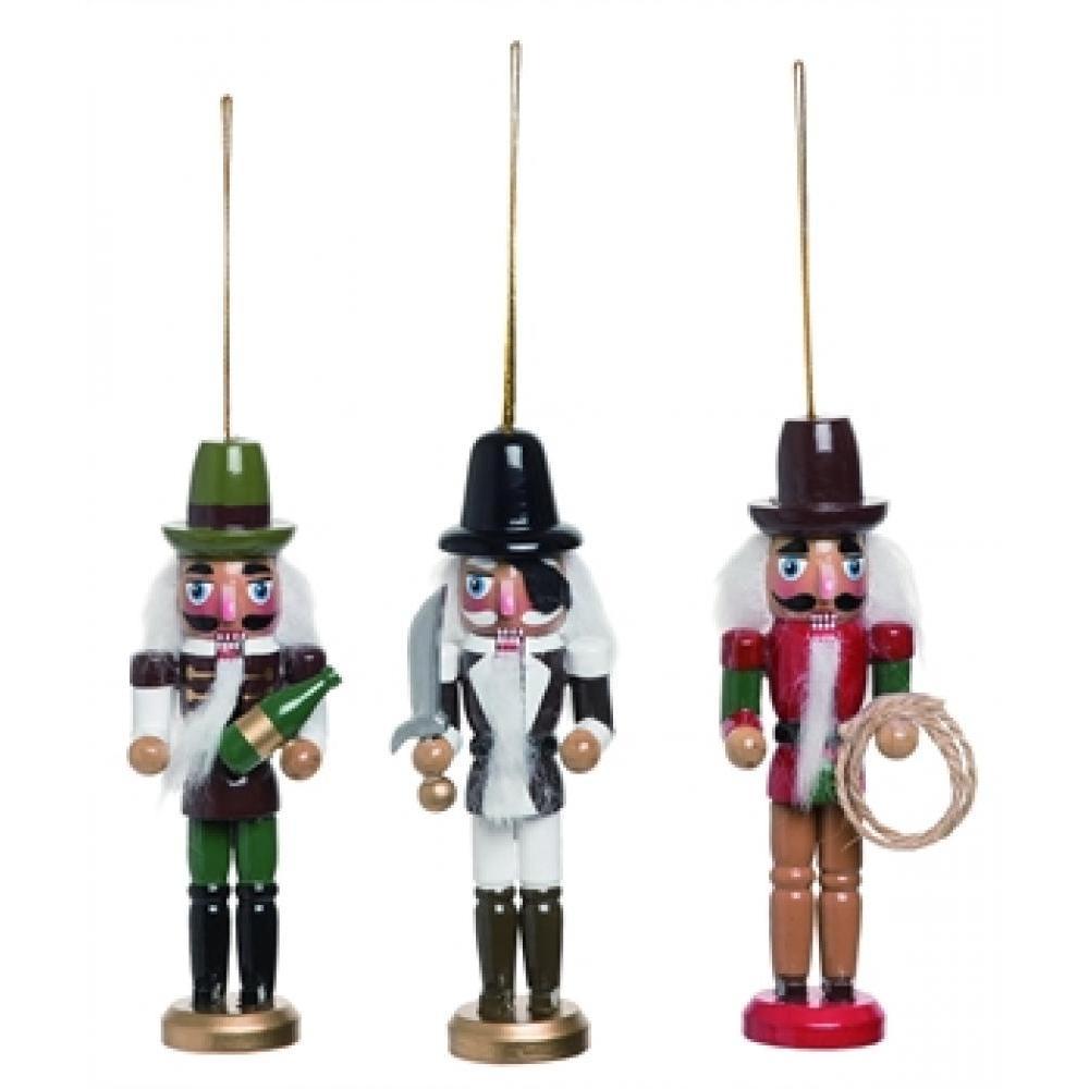 Ornament - Wooden Pirate Nutcracker