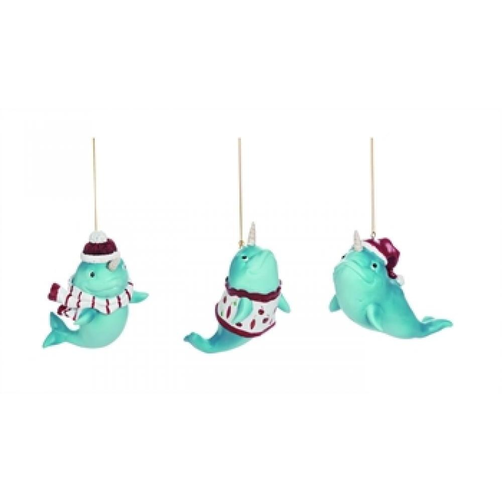 Ornament - Christmas Narwhal