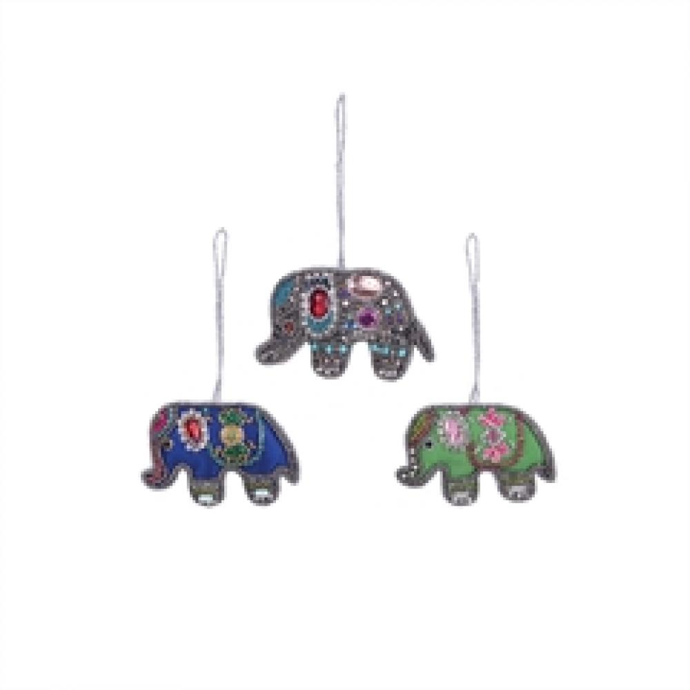 Ornament - Beaded Elephant