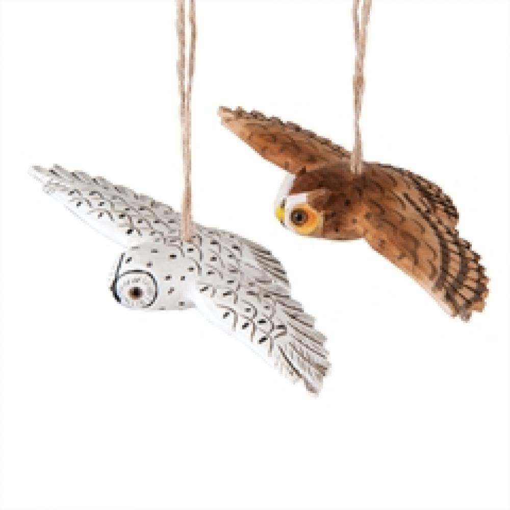Ornament - Flying Owl
