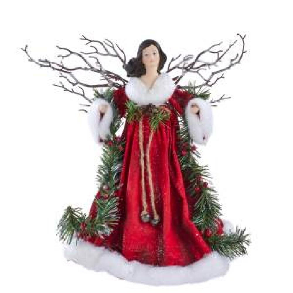 Tree Topper - Angel Red With Garland