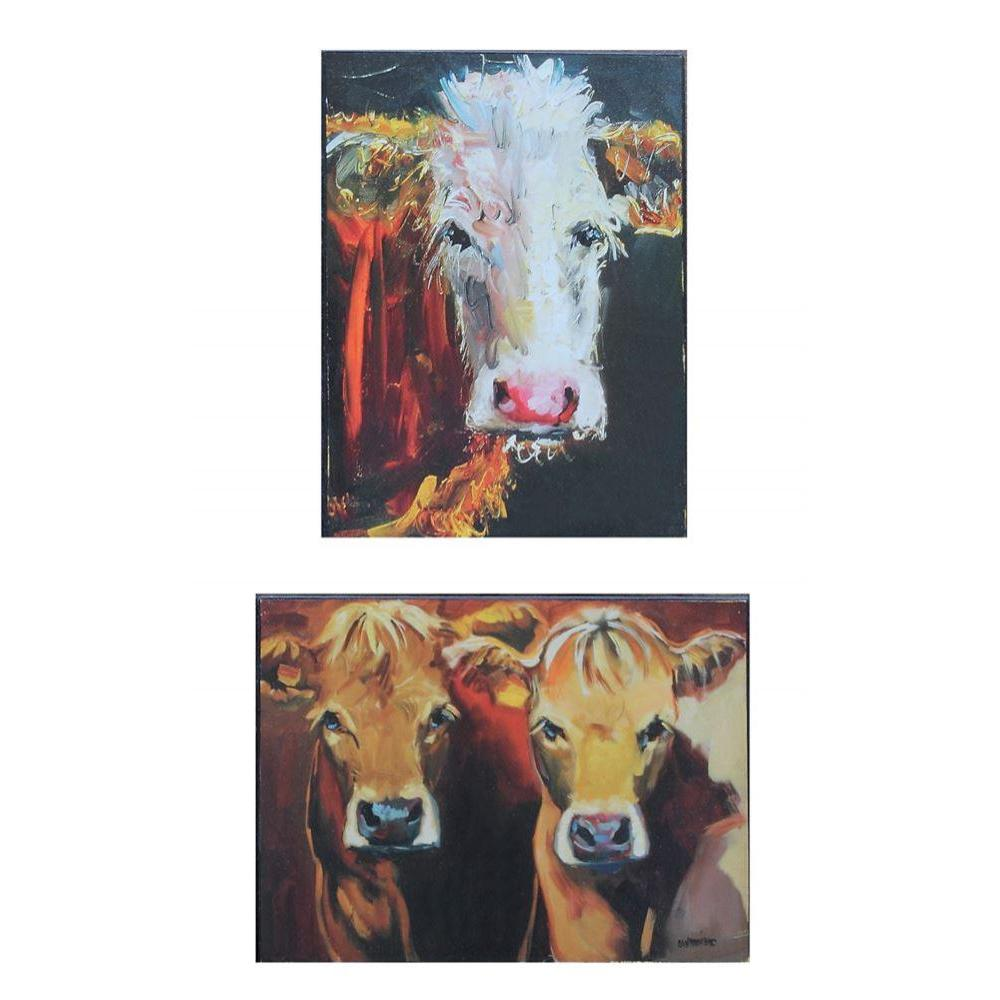Canvas Wall Decor Cow 2 Styles