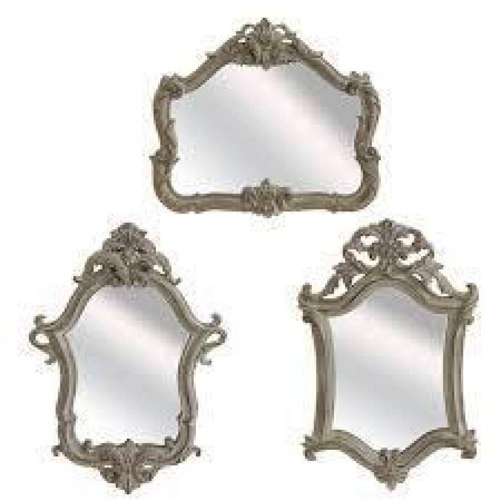 Mirror - Vintage Whitewash 3 Asst