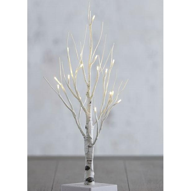 Lighted Birch Tree 18in Warm White