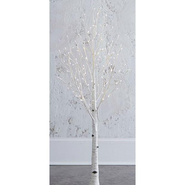 Lighted Birch Tree 54in Warm White
