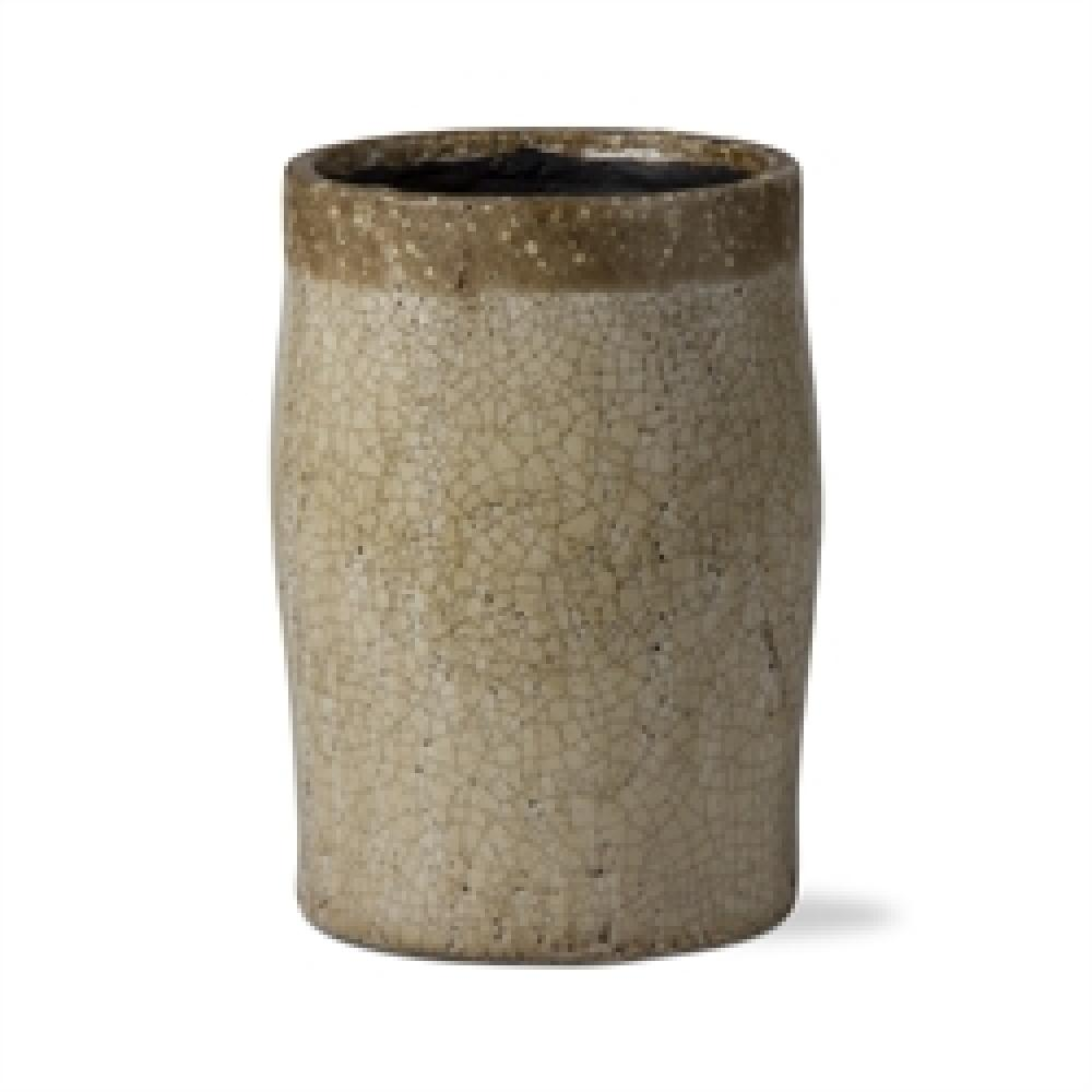Vase Tall Rustic Natural Crackle Glaze