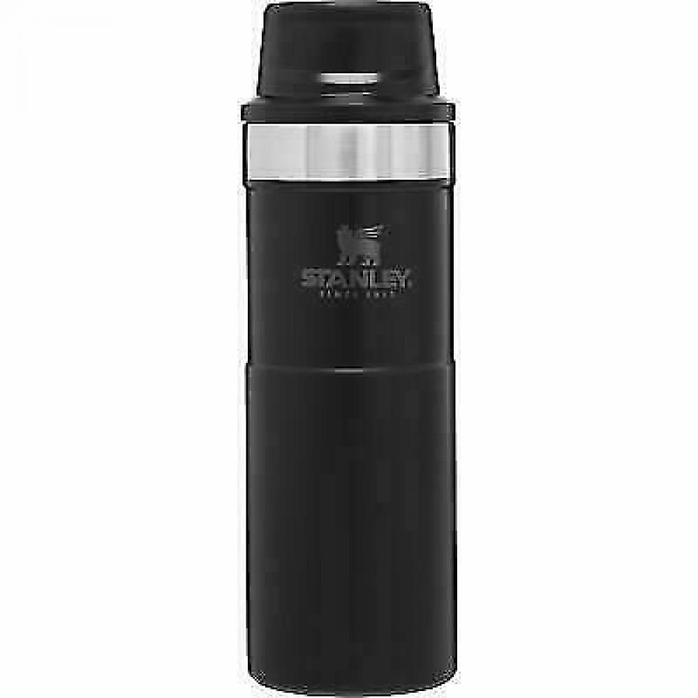 Matte Black trigger action travel mug, 16 oz