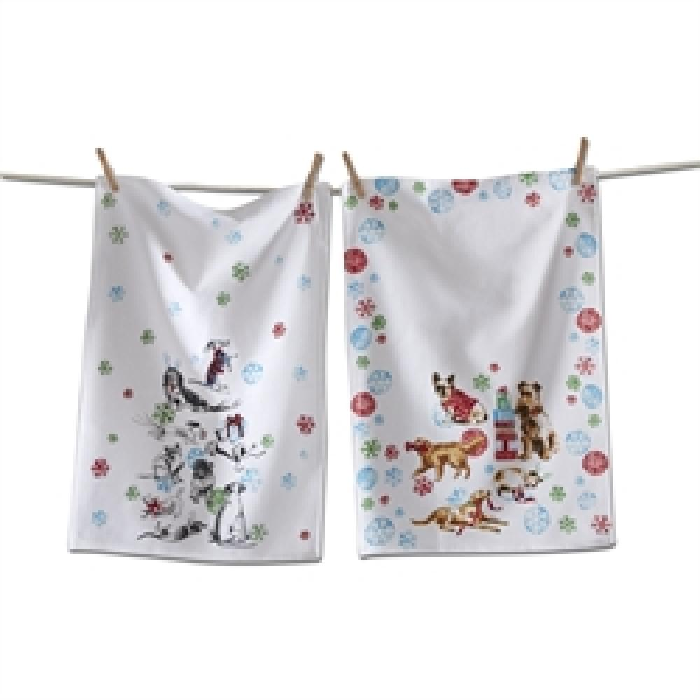 Dish Towel Party Animal Dogs