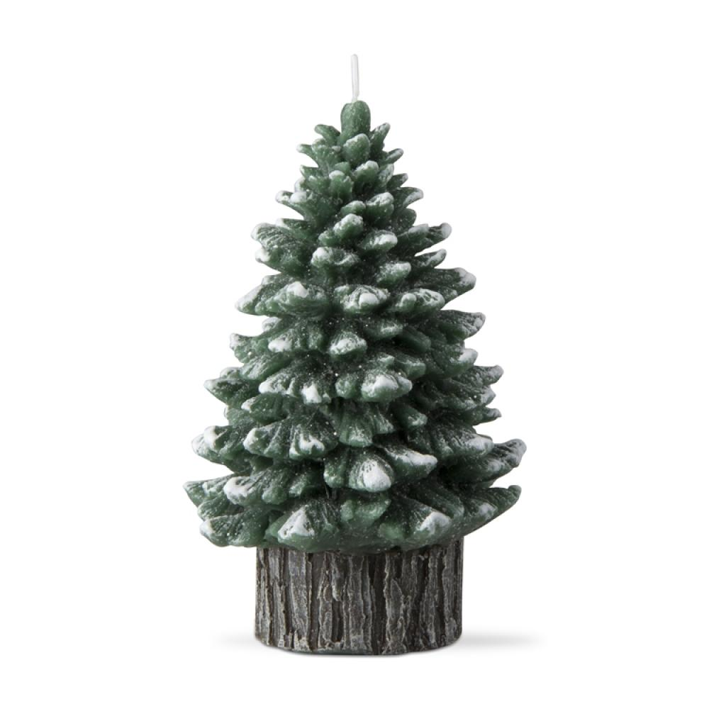 Tree Candle Spruce Hunter Green Med