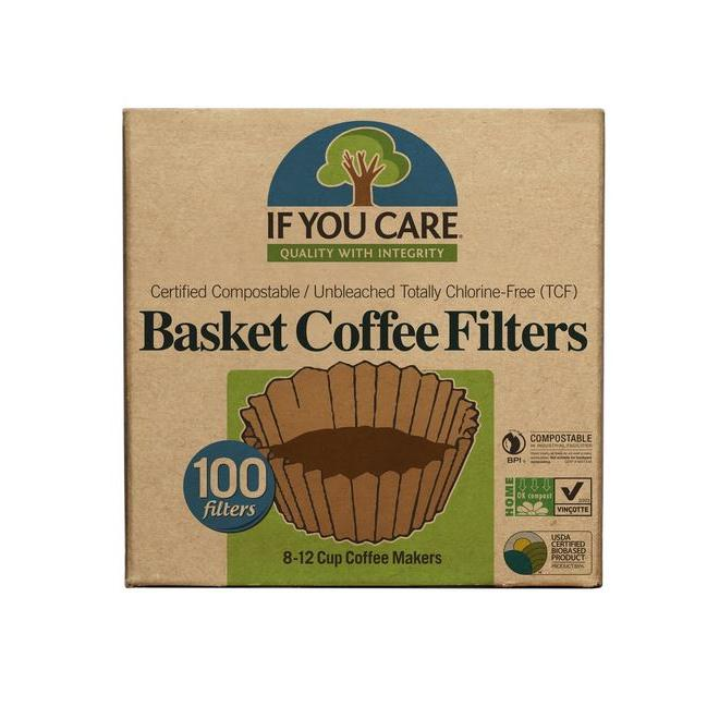 Unbleached 8in Basket Filters 100 Count