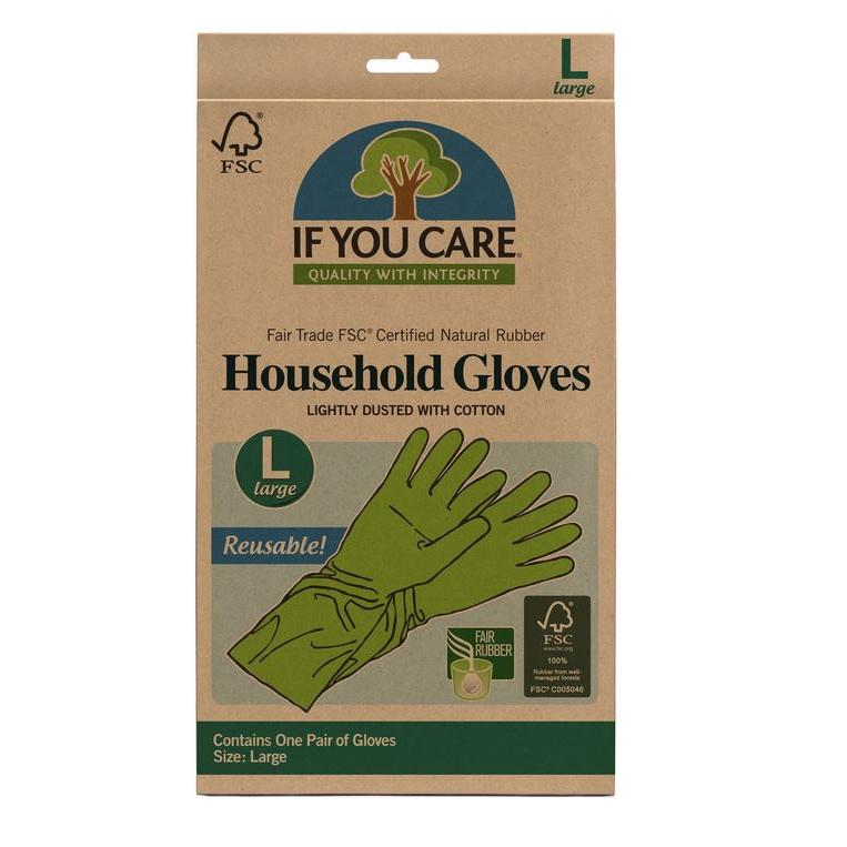 Fsc Certified Fair Trade Latex Household Gloves Large