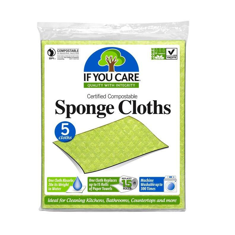 100% Natural Sponge Cloths 5 Pack