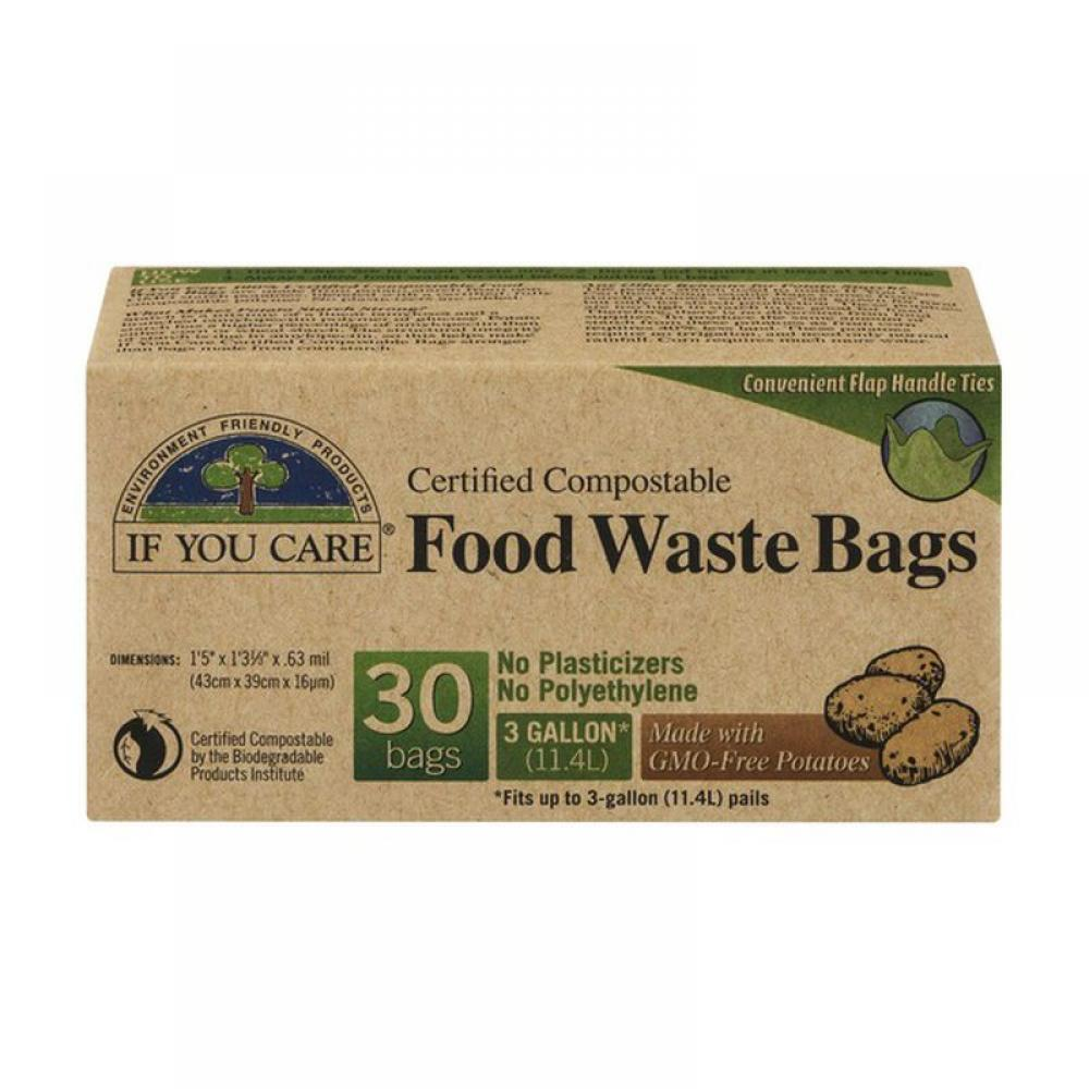 3 Gallon Certified Compostable Food Waste Bags 30 Count