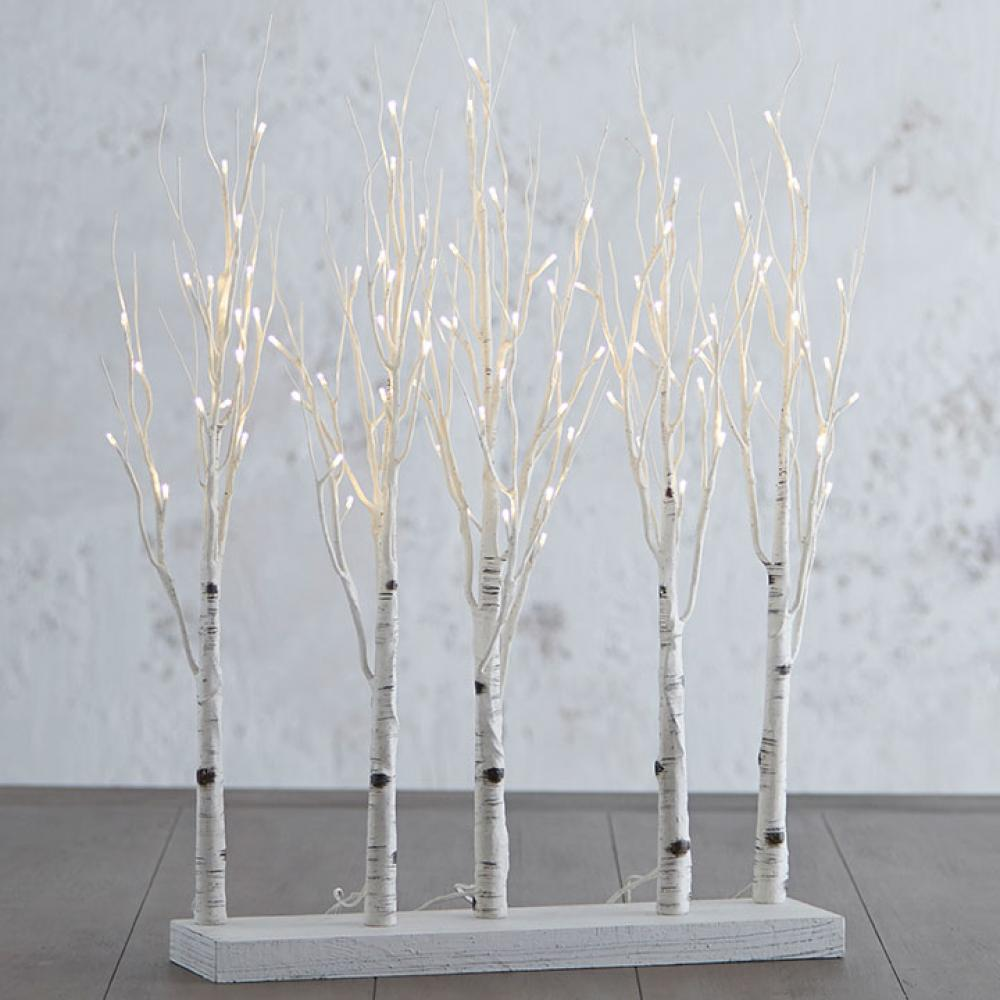 Lighted Birch Tree Grove 30in Warm White