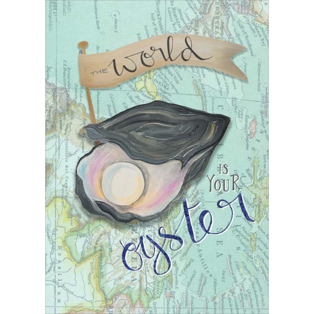 Congrats - World Oyster - Little Posey Print