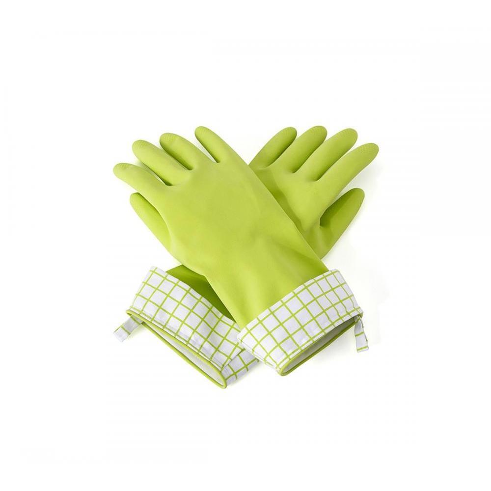 Splash Patrol Natural Latex Cleaning Gloves - Green