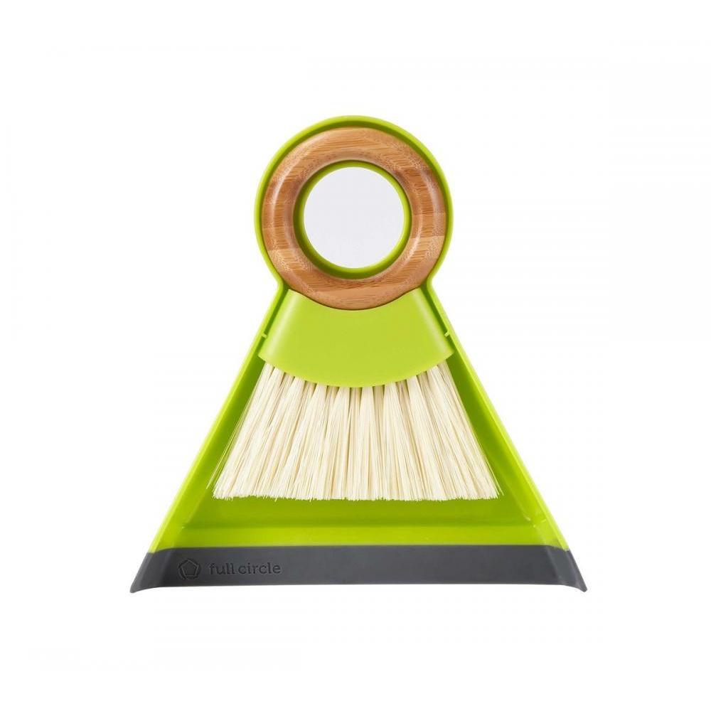 Tiny Team Mini Brush And Dustpan Set - Green