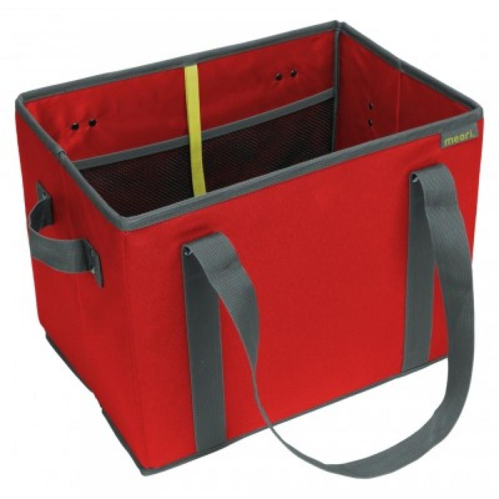 Foldable Grocery Basket Hibiscus Red Solid