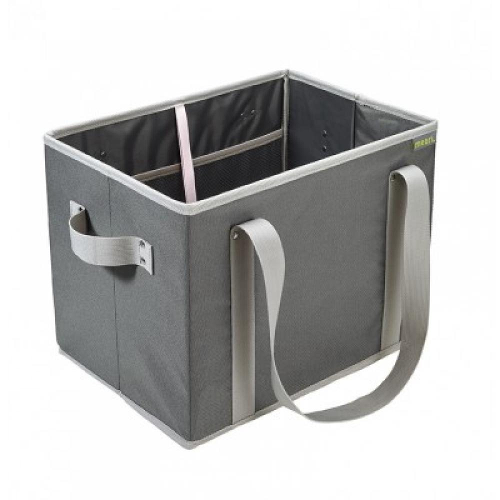 Foldable Grocery Basket Granite Grey Solid