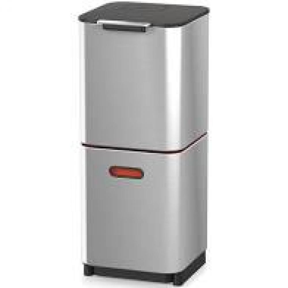 Totem Max Stainless Steel Trash and Recycling 40L