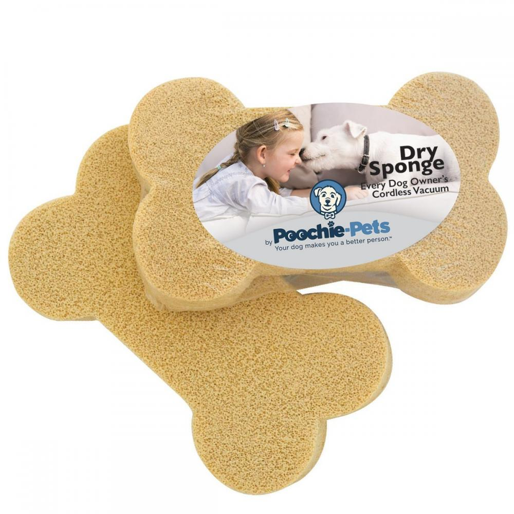 Pet Dry Bone Shape Sponges Bucket Of 12