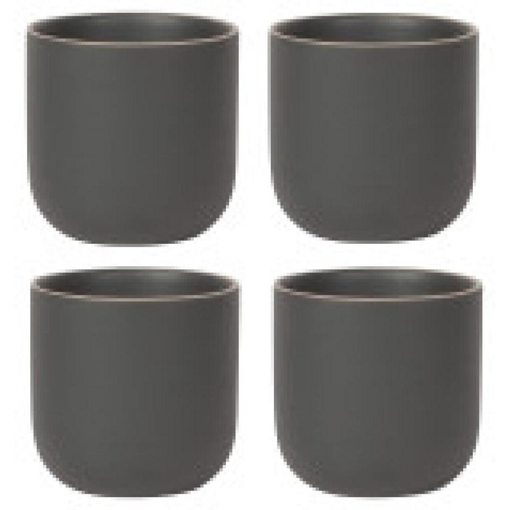 Teapot Mug - Orb Collection Black Set Of 4