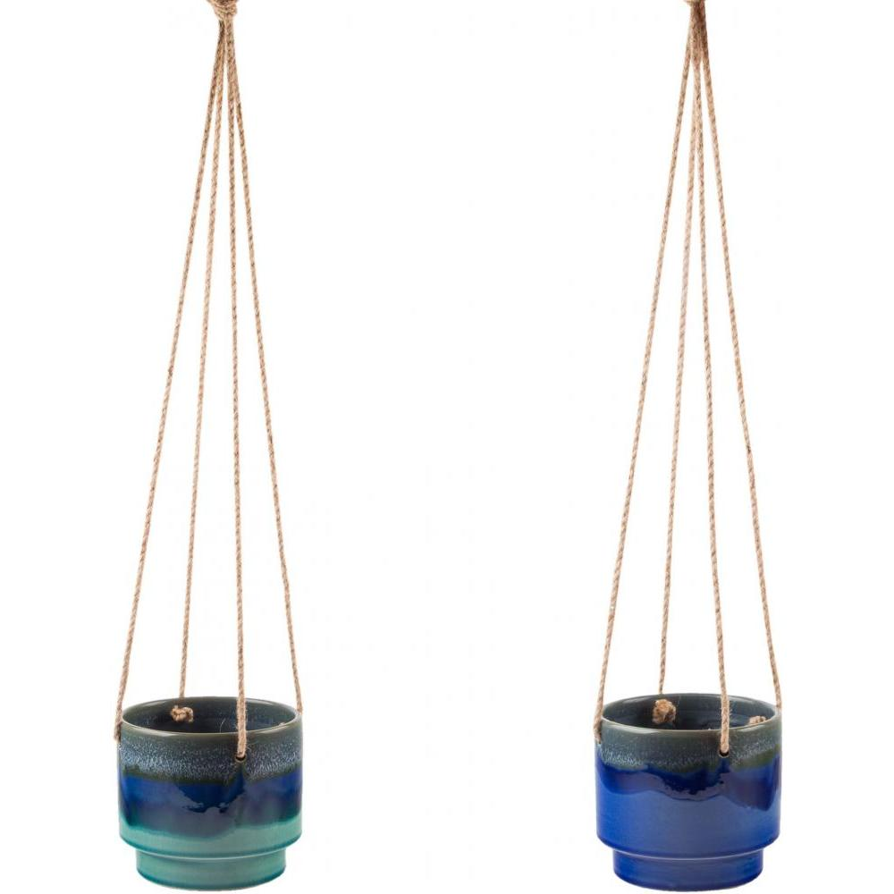 Hanging Planter Blue Reactive Glaze