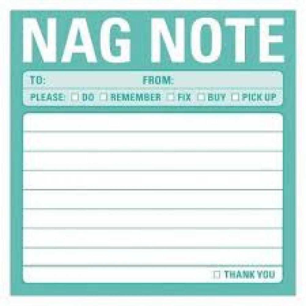 Sticky Note - Nag Note