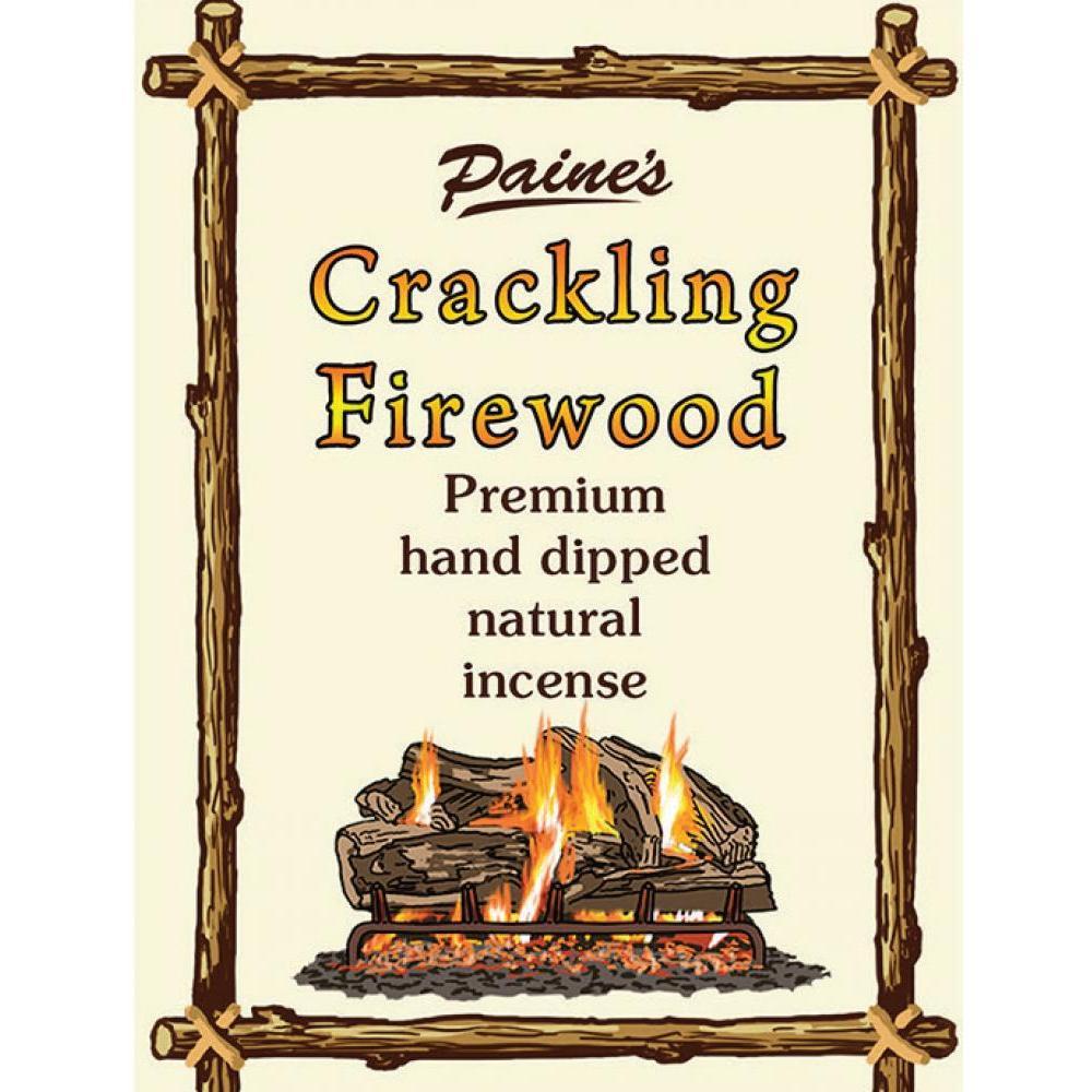 Incense Sticks Hand-Dipped Natural 20-pack - Crackling Firewood