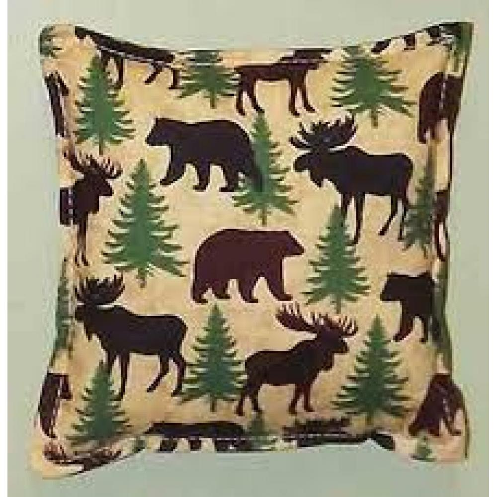 Balsam Pillow 6 x 6in -  Bear and Moose