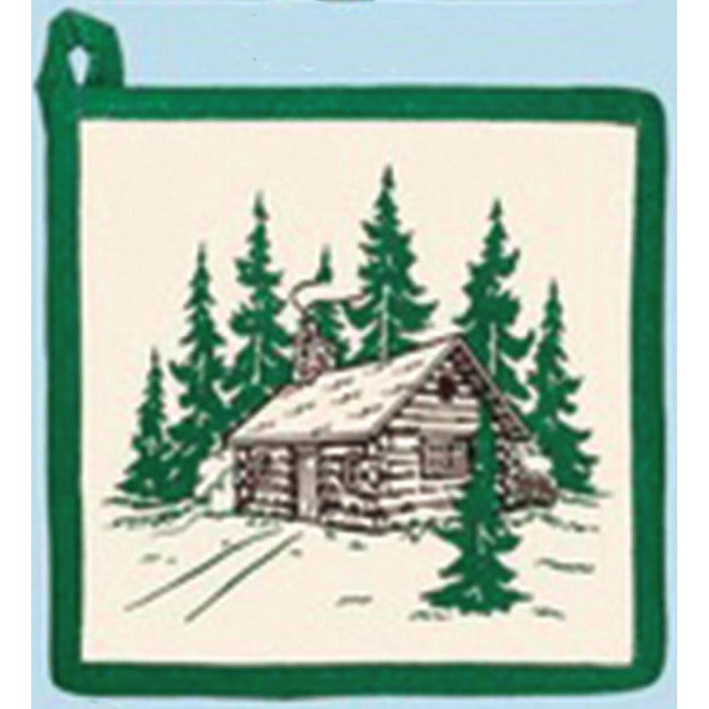 Pot Holder Hot Pad - Cabin